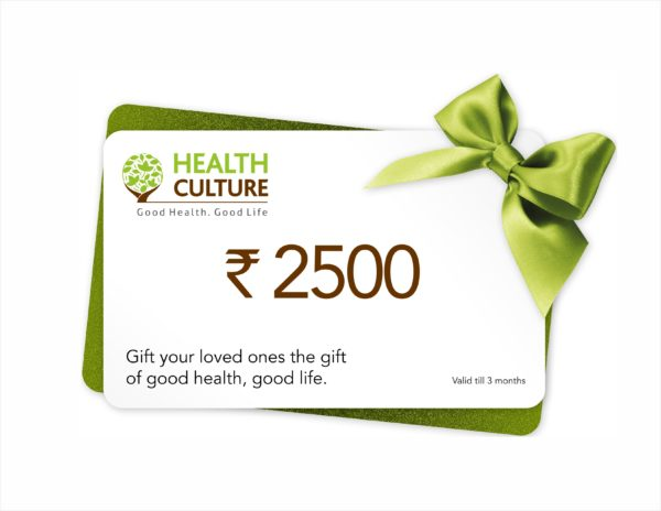 Gift Voucher Coupon - Rs 2500 - Health Culture