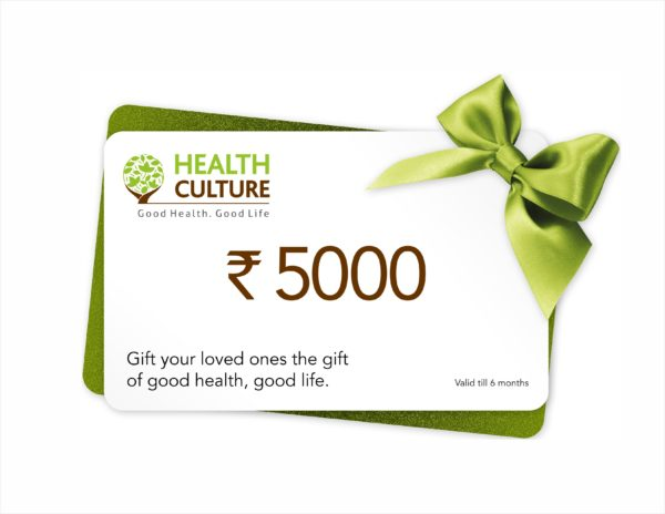 Gift Voucher Coupon - Rs 5000 - Health Culture
