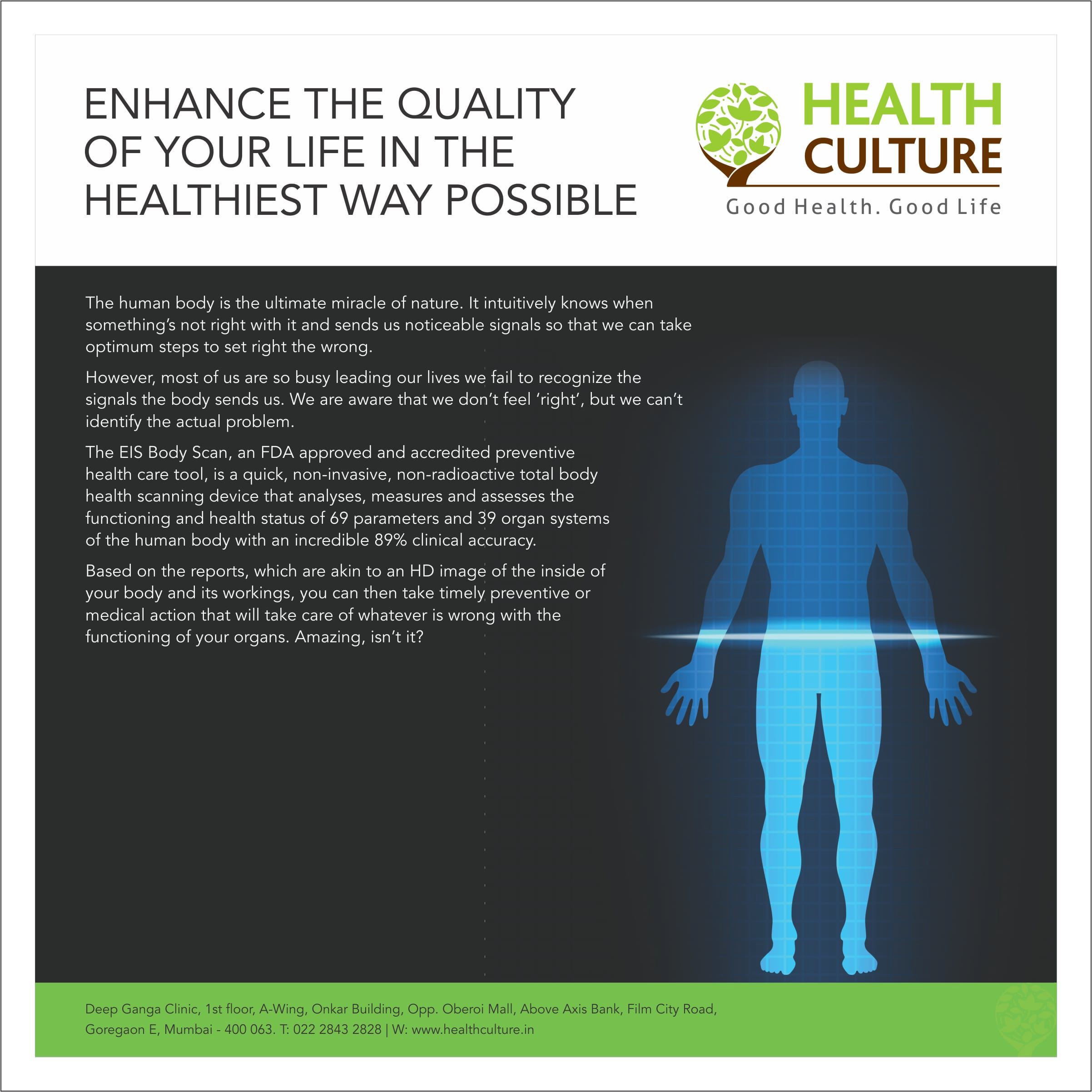 Enhance the Quality of life - Health Culture
