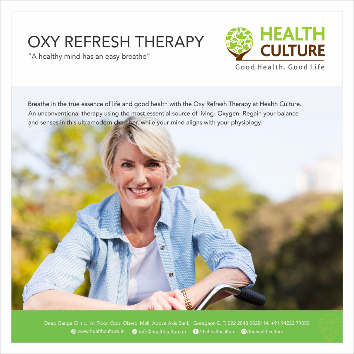 Oxy Refresh Therapy - Health Culture