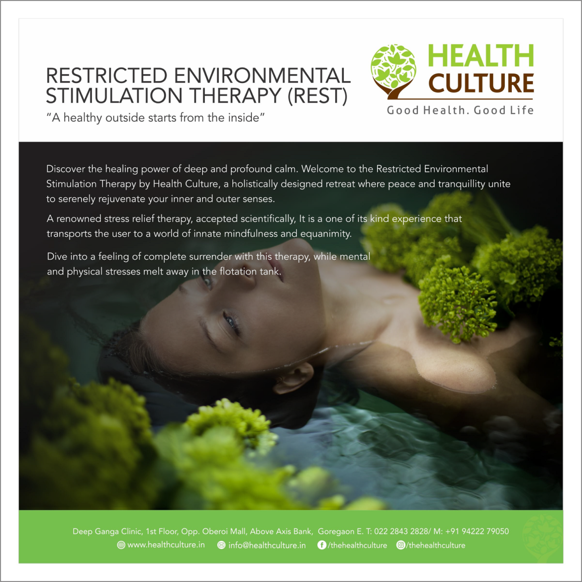 Restricted Environmental Stimulation Therapy (REST) - Health Culture